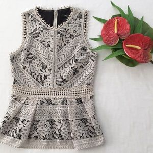 Romeo & Juliet Couture Lace Peplum Top